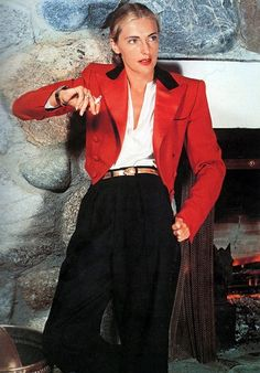 Must Try: PANTSUITS! inspiration: Slim Keith- fashion icon- worked menswear into her wardrobe like a pro!