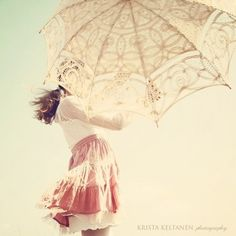 umbrella and lace