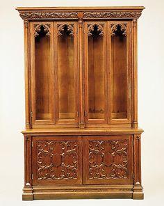 Bookcase  Date: ca. 1855 Geography: Mid-Atlantic, New York, United States Culture: American Medium: Oak, pine