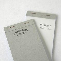 Billet notepad