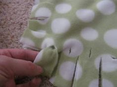 No Sew, No Knot Fringe Fleece Blanket and Pillow Cover