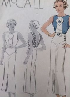 Vintage 1934 Mccall McCalls  GLAM Wiggle  Dress Pattern #7864
