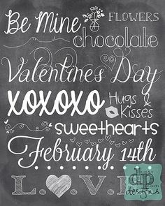 8x10 Valentines Day Poster - Digital File