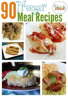 Hurry and pin this! Tried and true Freezer Meal recipes using chicken, beef, pork, pasta and fish!