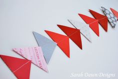 Easy Valentine Crafts | Sarah Dawn Designs: Easy Valentine Crafts - 20 Min. Garland