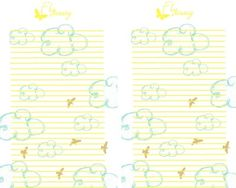 Free printable Spring stationary.
