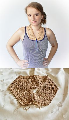 Modest beige crochet collar. by mala100gosia, via Flickr