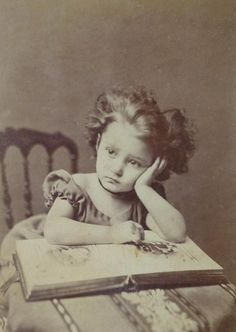 Girl with photo album, c. 1870s via thehystericalsociety #victorian #child