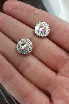 AURORA BOREALIS Bullet Earrings for the Firearms by GunPowderWoman, $14.00