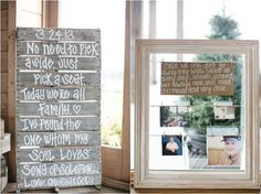 """I love this idea; I've been looking for a way to acknowledge so many thats wont be there for our day. A Frame with family members and friends that passed on and weren't able to see your special day with this saying in memory of them! """"These we love don't go away, they walk beside us everyday... unseen, unheard but always near, still loved, still missed and very dear."""""""