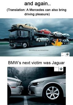 LOL is unthinkable: When Audi started a war to BMW....