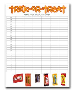 I love this for Halloween night/night after homework. {Track-Your-Loot :: Free Printable}
