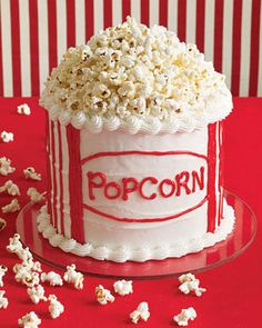 What! An actual popcorn cake?!