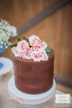Gorgeous Cake from this Shabby Chic Bridal Tea Party with REALLY CUTE IDEAS via Kara's Party Ideas   Kara Allen KarasPartyIdeas.com #shabbychicparty #teaparty #shab...
