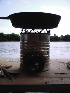 Rocket Stove. These I live quite a bit. Little ones like this for camping are great but also larger ones for the home are superb.