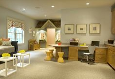 "Kids Playroom Design. Wonderful Playroom Design. #Playroom #Design #paintColor ""Sherwin Williams 7058 Magnetic Grey"""