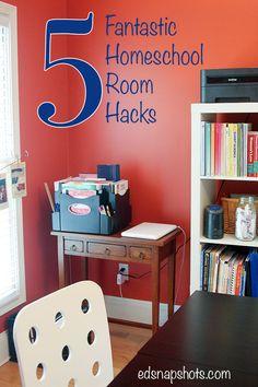 Five Fantastic Homeschool Room Hacks