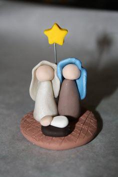 polymer clay nativity figurine