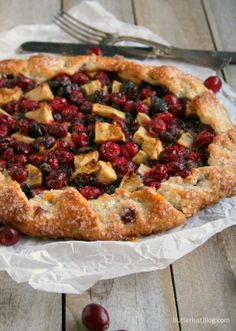 Festive Cranberry Orange Galette with Rosemary and Ginger