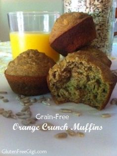 Use my Grain Free Flour Blend to make these light, fluffy and deliciousGrain Free Orange Crunch Muffins!