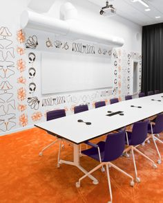 Inside the offices of Skype...the meeting room