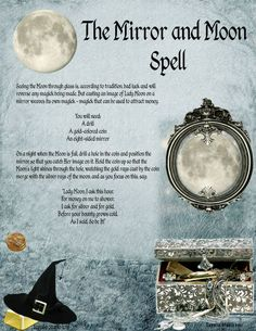 Magick Spell:  The Mirror and Moon Spell.