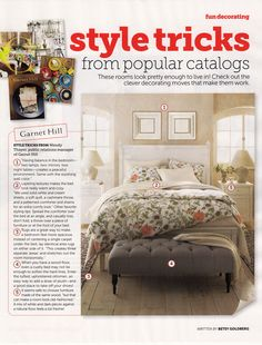 Garnet Hill Signature Bedding in the October issue of @HGTV Magazine