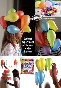 Summer experiment with smal baloons