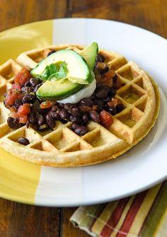Savory Cornmeal Waffle + 10 Savory Pancake Recipes for Dinner | Bob's Red Mill
