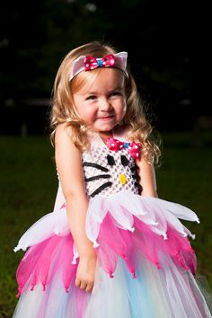 Say Hello to Miss Kitty Tutu Dress Halloween by BlissyCoutureTutus, $65.00