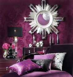 Deep Purple Bedroom on Pinterest