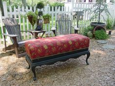 *~Fabulous Designer Fabric Custom Made Bench Foyer Foot of Bed Table~* - $179 (Buford )