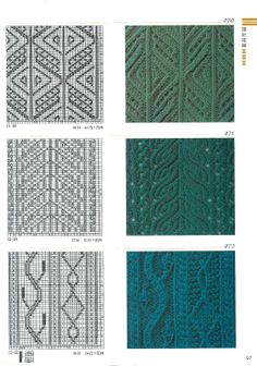 drutkow wzori, knit stitch, knit pattern