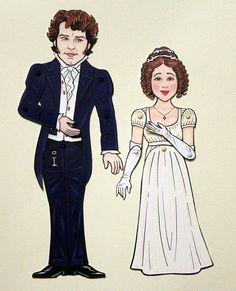 Pride and Prejudice Darcy and Elizabeth Paper Dolls BBC Colin Firth :)
