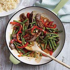 Steak and Asparagus Stir-Fry   Cooking Light #myplate, #protein, #veggies