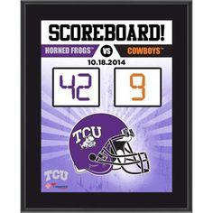 TCU Horned Frogs Scoreboard Plaque