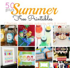 Over 50 Free Summer Printables
