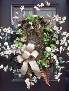 Spring Wreaths Door Wreaths Country Chic Decor A by LuxeWreaths, $175.00