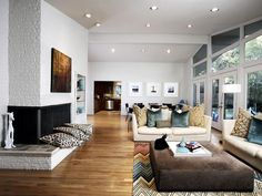 Mid-century-modern Living-rooms from Pulp Design Studios on HGTV