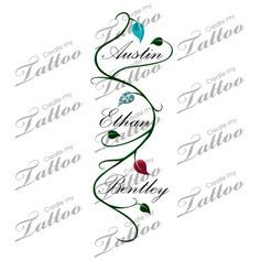tattoos with grandchildren's names - Google Search