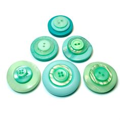 Button Magnets in Mint and Aqua, #Handmade #Gift Ideas