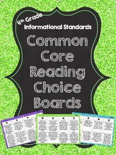 Common Core Reading Choice Boards {Informational: 4th Grade} | Jennifer Findley | {4}