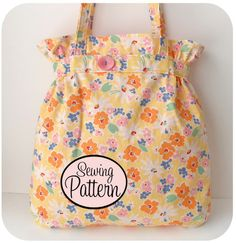 Belted tote by Michelle Patterns (out of print)