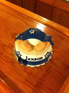 baby butt dallas cowboys baby shower cake so cute i would change