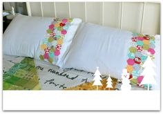 Thrifty Hexie Christmas Pillow Case