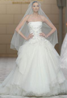Pronovias Spring 2015 Wedding Dress | http://blog.theknot.com