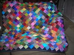 another mitered square afghan idea