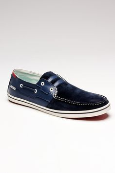 Leather & Suede Navy Shoes.