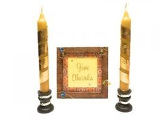 Thanksgiving Hostess Gift: Handmade Candlesticks and Candle Holders