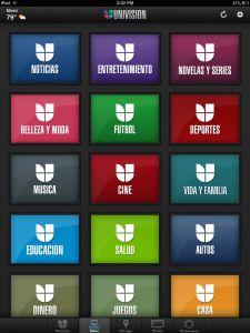 Incorporating Univision App into Spanish class.